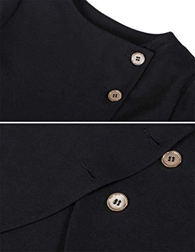 Bolawoo Di Single Elegante Breasted Manica Autunno Coat Qualità Puro Alta Rotondo Giacca Cappotto Ovest Marca Donna Mode Collo Schwarz Lunga Irregular Colore przqBp