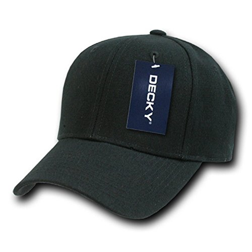 (DECKY Fitted Cap, Black, 6 3/4 )