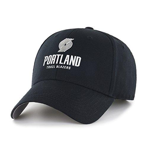 fan products of NBA Portland Trail Blazers OTS All-Star Adjustable Hat, One Size, Black & White