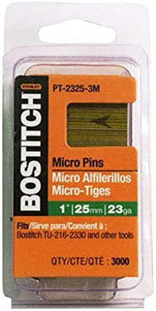 "3//4/"" Inch Micro Pins Headless Pins for Headless Pinners 23 Gauge 3,000"