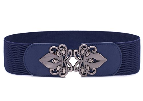 - Syuer Womens Vintage Wide Elastic Stretch Waist Belt Retro Cinch Belt (XL-XXL (35