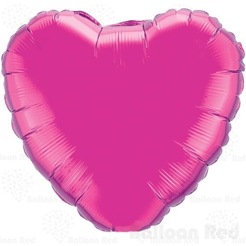 10 Inch Foil Mylar Balloons for Wall Decoration (Premium Quality, Air Fill Only), Pack of 6, Heart - (Halloween Decor With Balloons)