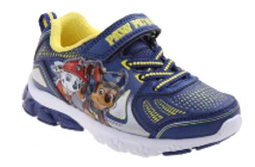 Patrol Shoes Sneaker - Paw Patrol Nickelodeon Boy's Light Up Shoes (8 M US Toddler, Navy/Yellow)