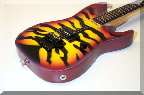 GEORGE LYNCH Miniature Guitar Dokken ESP Tiger Sunburst