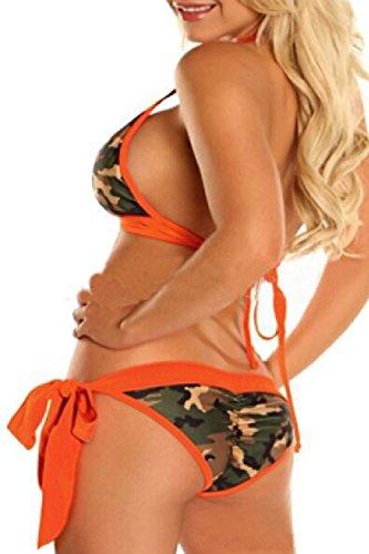 Fanvans Donne Bikini Mimetizzazione Sexy Giallo Per Tanga Serie Costume Le qw6aC