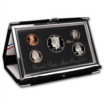 (1995 S US Mint 5-Piece PREMIER SILVER PROOF SET Orig Box/COA DCAM)