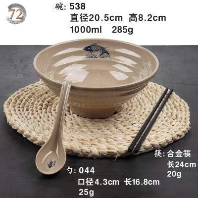 JHFIHOJ vajilla de mesa con fideos japoneses Lamian Ramen Sop, Tazón de sopa de palillos y cucharas de melamina de plástico, juego de vajilla picante 72: Amazon.es: Hogar