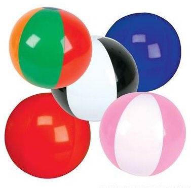 100 Mini Inflatable Beach Ball Bulk (Approximately (Mini Inflatable Beach Balls)