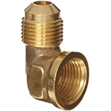 Anderson Metals Brass Tube Fitting, 90 Degree Elbow, Flare x NPT Female