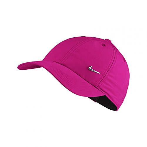 NIKE Girl's H86 Metal Swoosh Hat Lethal Pink/Silver 405043-635 (One Size)