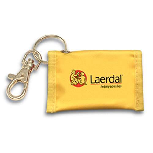 Laerdal Medical Face Shield CPR Key Chain, Yellow (Laerdal Face Shields)