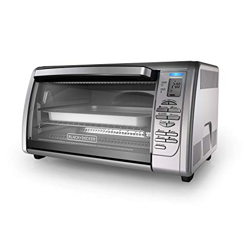 BLACK+DECKER Countertop Convection Toaster Oven, Silver, CTO6335S (Black & Decker Under Counter Toaster Oven)