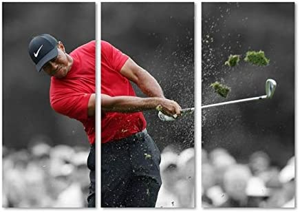 Canvas Bubble Tiger Woods Wins Masters 2019 Tournament Poster Canva