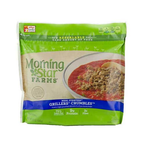MorningStar Farms Meal Starters Grillers Crumbles, 12 Ounce - 6 per case. by Morningstar Farms (Image #4)
