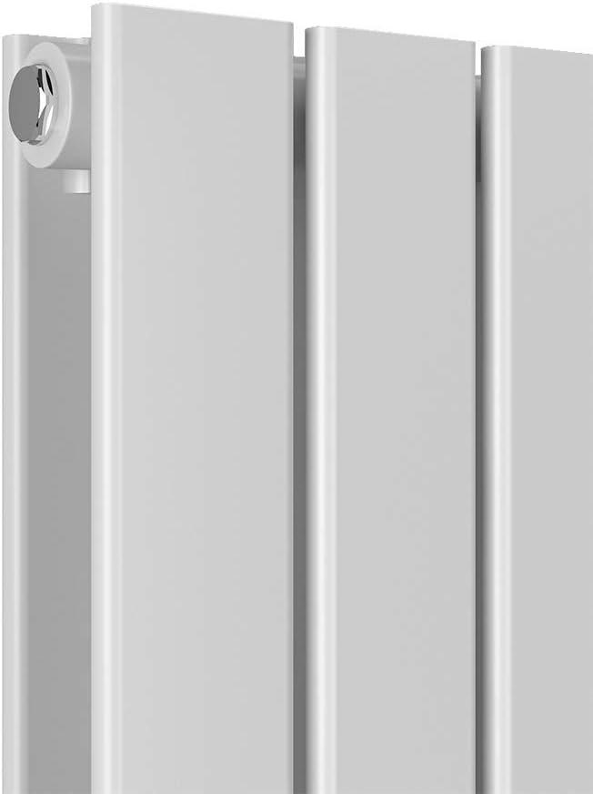 WELMAX Flach Heizk/örper Horizontal Anthrazit 630 x 620mm Design Paneelheizk/örper Seitenanschluss Doppellagig Heizung