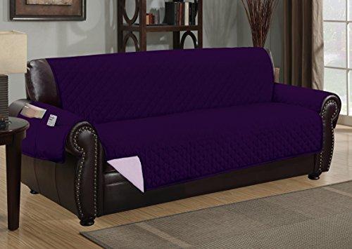 Sofa Guard Deluxe Reversible Sofa Furniture Protector, Purple / Lavender
