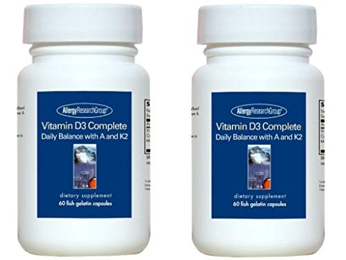Allergy Research Group Vitamin D3 Complete, 60 Caps  (2 Pack)