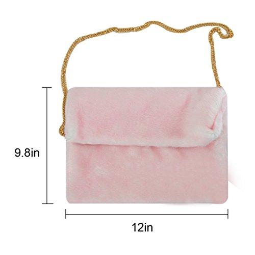 Millya - Bolso cruzados para mujer, gris (Gris) - bb-01598-01C rosa