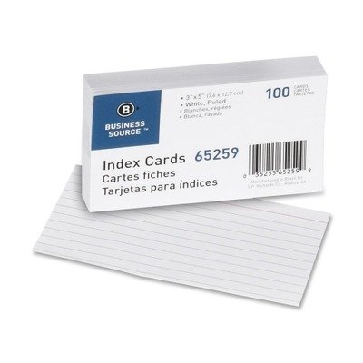 BSN65259 - Business Source Ruled Index Card by Business Source