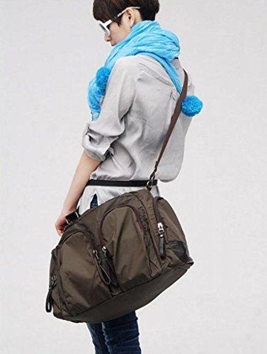 LCY Unisex multifunción bandolera bolsa de viaje marrón café café