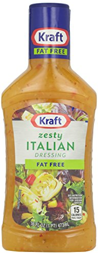 Kraft Dressing, Zesty Italian, Fat Free, 16 oz