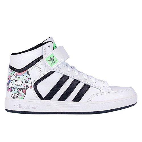 Adidas Men's Varial Mid, Skull-WHITE