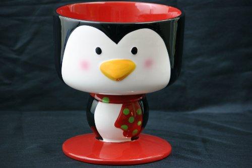 "Penguin Ceramic Trifle Bowl 8"" Diameter Serving Bowl"