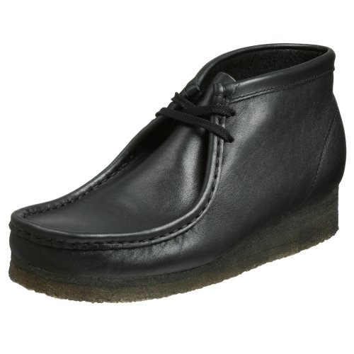 Clarks Originals Men's Wallabee Boot, Old Black Leather, 7 M