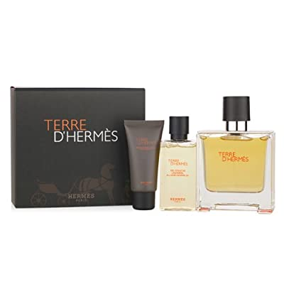 Hermes 3 Piece Gift Set for Men, Terre D'hermes