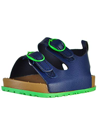 Stepping Stones First Steps Baby Boys' Sandals - Navy/Lime, 12-18 Months ()