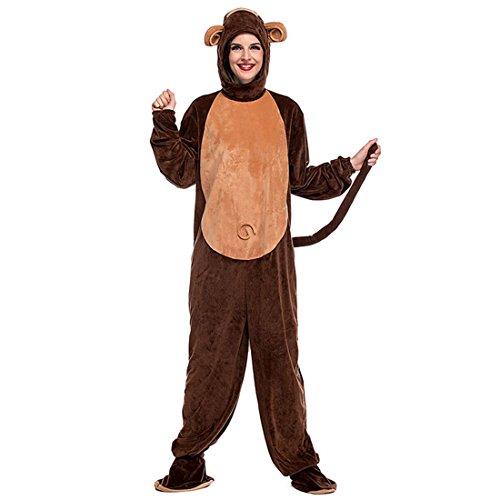 Slocyclub Unisex Bailey Monkey Hooddie Costume