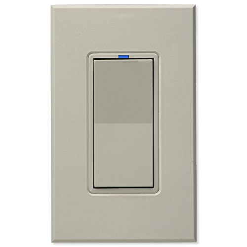 PCS PulseWorx UPB Wall Switch-Relay/Dimmer, Light Almond (Upb Relay)