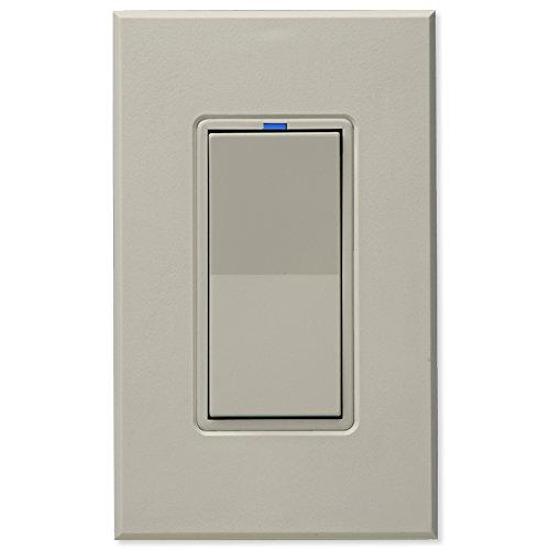 PCS PulseWorx UPB Wall Switch-Relay/Dimmer, Light Almond (WS1C-LA)