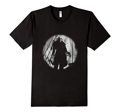 Men's Nosferatu Vampire Classic Horror Black T-Shirt Dracula Men Medium Black (Horror Tshirts)