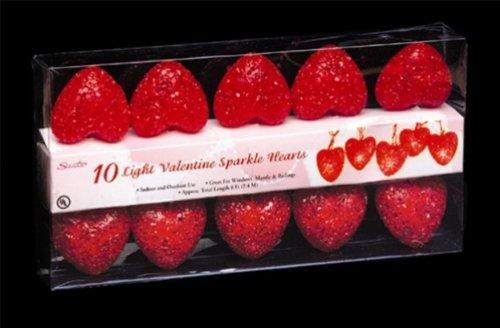 8' Heart Light Set - Sparkle Mini Hearts Light Set - 6'