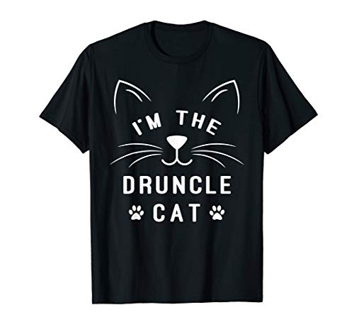 Mens I'm The Druncle Cat - Drunk Uncle - Family Halloween Cat T-Shirt -