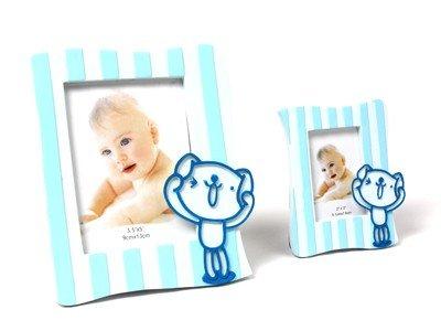 DISOK - Portafotos Juguetón Azul L - Regalos para Bautizos: Amazon.es: Hogar