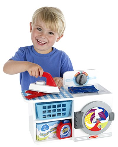Melissa & Doug Wash, Dry and Iron Play Set - Pretend Play Laundry Cleaning Set