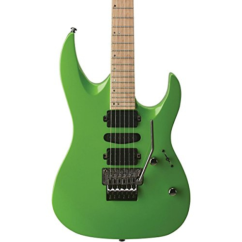 - Mitchell HD400 Hard Rock Double Cutaway Electric Guitar Green Lemon