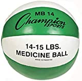 Champion Sports 14-15 lbs. Leather Medicine Ball