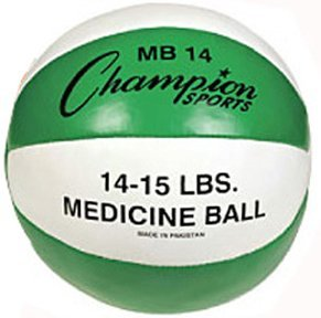 Champion Sports 14-15 lbs. Leather Medicine Ball by Champion Sports