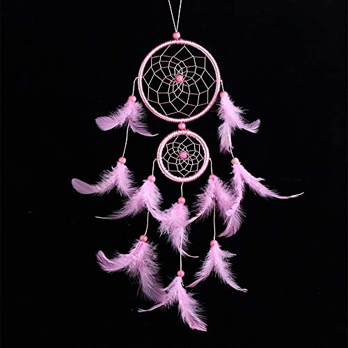 Wind Chimes - Handmade Lace Dream Catcher Home Decor Feather Bead Hanging Decoration Ornament Gift Home Wall Art Hangings