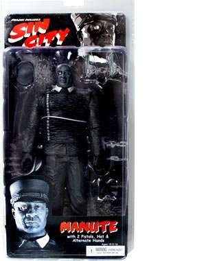 Sin City Series 1  Manute (Black and White) Action Figure by NECA