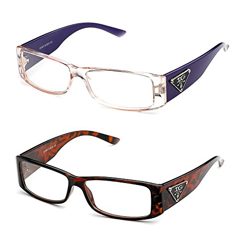 Newbee Fashion- Casual Nerd Thick Clear Frames Fashion Glasses for - Bans Ray Nerd Glasses