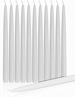 """Dripless Taper Candles 8"""" Inch Tall Wedding Dinner Candle Set Of 12"""