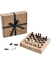 Travel Chess Set by Jaques - Complete Hand Carved Genuine Jaques Chess Set - Quality Chess Since 1795