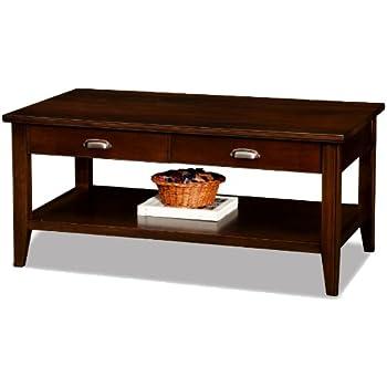 Amazon.com: LEICK Muebles Misión 2 cajones mesa de centro ...