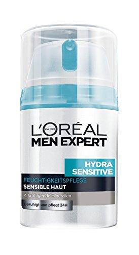 L'Oréal Men Expert Hydra Sensitive  24h Feuchtigkeitspflege für Männer, 1er Pack (1 x 50 ml)