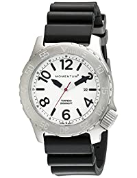 Momentum by St. Moritz Men's Torpedo White/Black Watch