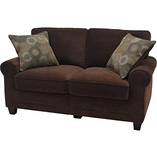 Bowery Hill Loveseat in Rye Brown